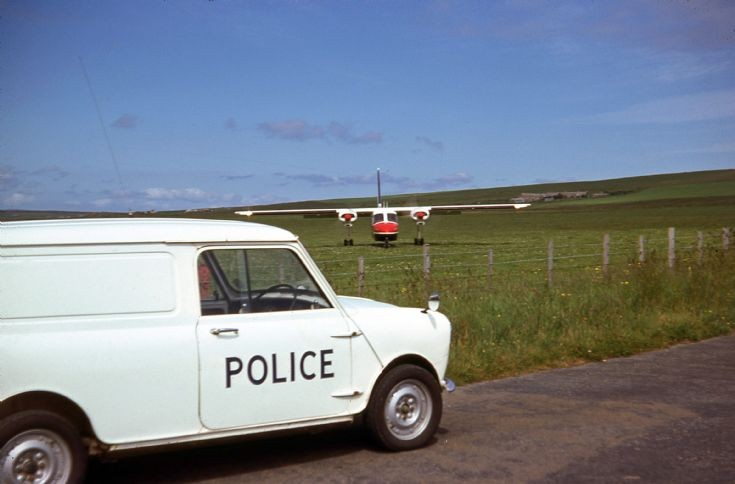 Police mini van and BN Islander