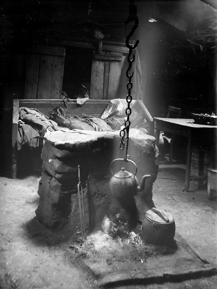 Ancient croft fireplace