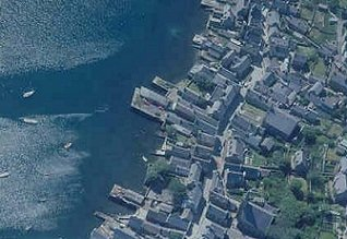 Stromness from the air