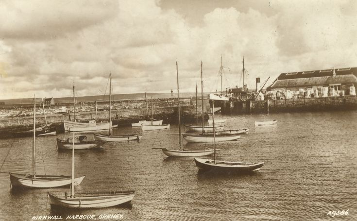 Kirkwall Basin and ss Amelia - circa 1935