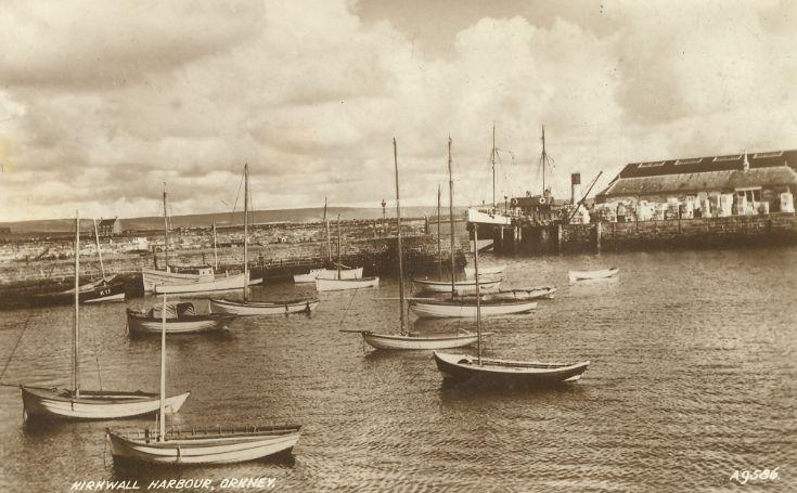 Kirkwall Basin and ss Amelia - circa 1935