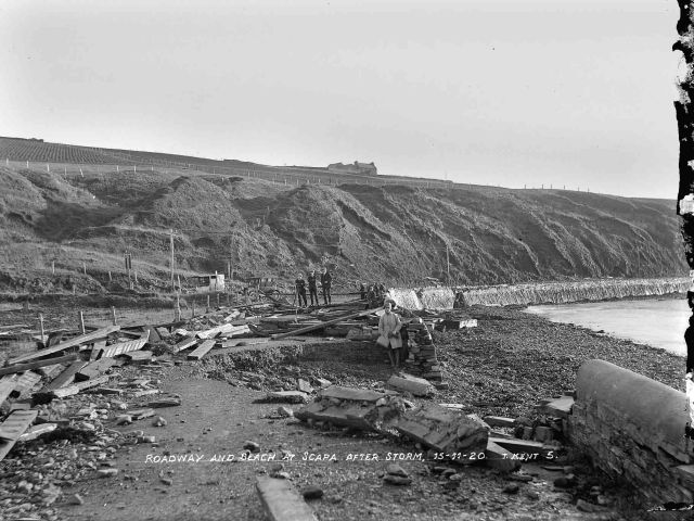 Storm damage at Scapa