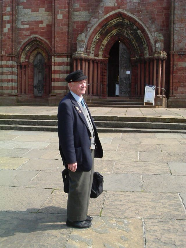Willie Groat outside Cathedral