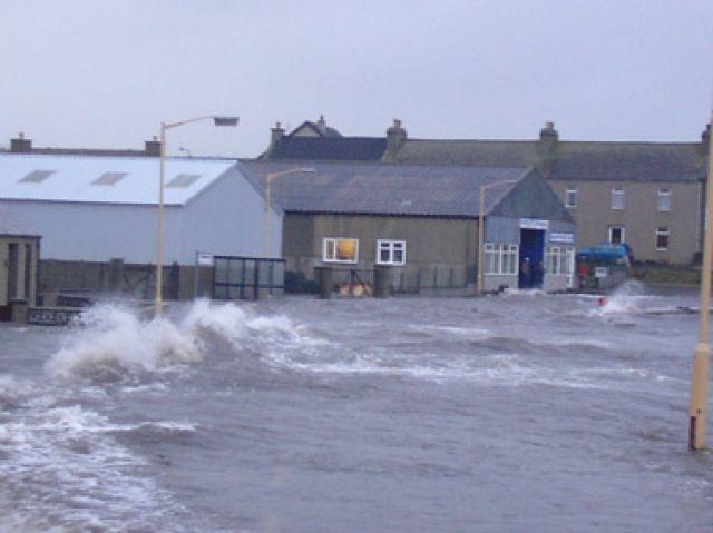 Holm Village flooded