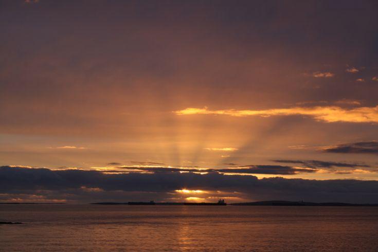 Sunrise over Flotta