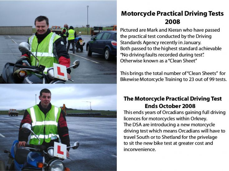 Motorcycle Practical Tests 2008