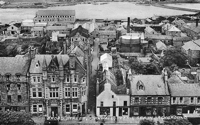 Kirkwall from an old postcard
